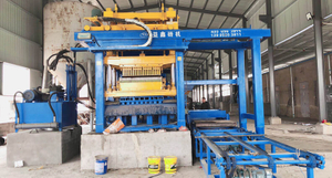 QTMT 12-25 Concrete Hollow Block Free Pallet Making Machine Working in Syria