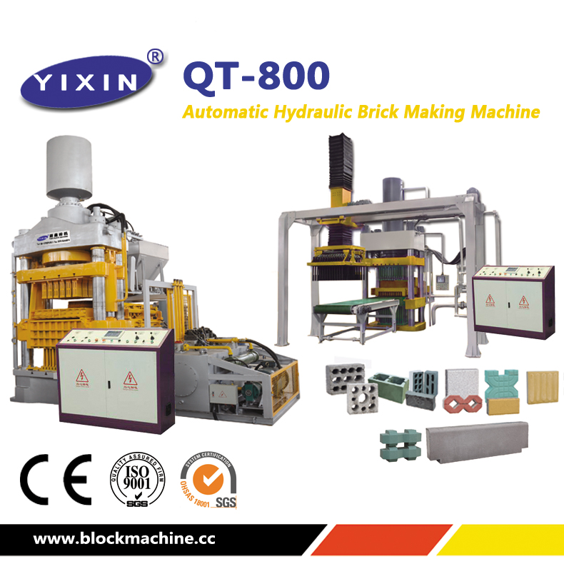 automatic hydraulic brick making machine