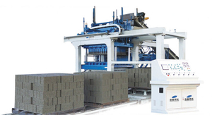 Intelligent QTMT8-25 Concrete Hollow Block Free Pallet Production Device