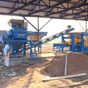 Concrete Fly Ash Brick Making Machine QT4-15 Working in India