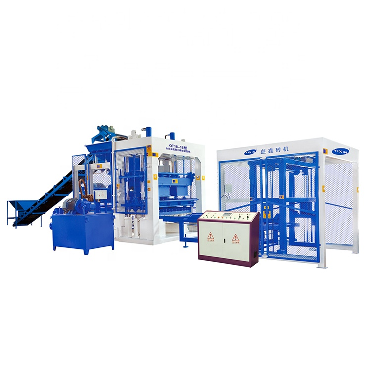 Yixin QT12-15 Automatic Concrete Block Making Machine Price