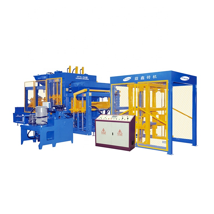 QT10-15 Germany Technology Color Paver Qunfeng Hollow Block Making Machine